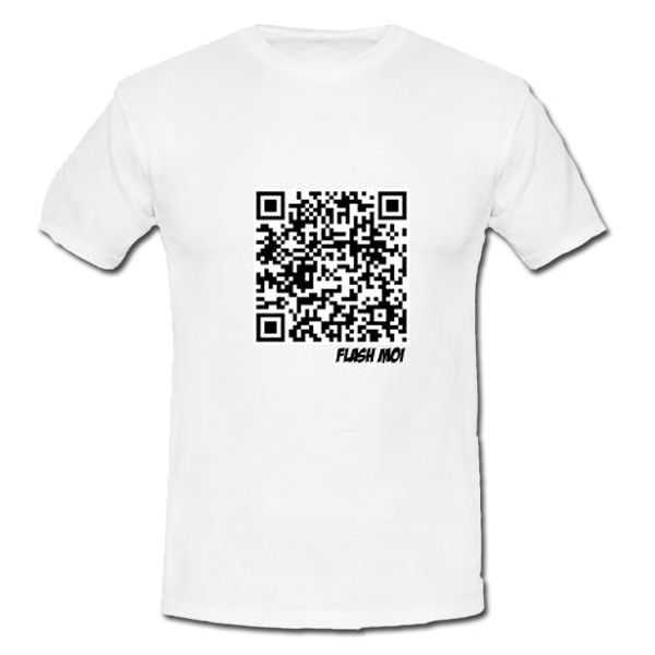 t shirt flashcode personnalis exp dition sous 24h. Black Bedroom Furniture Sets. Home Design Ideas