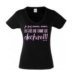 T-shirt une maman, une mamie qui déchire