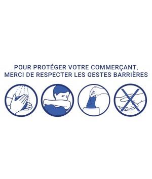 Stickers des gestes barrières à respecter