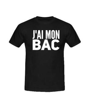T-shirt humoristique j'ai le bac