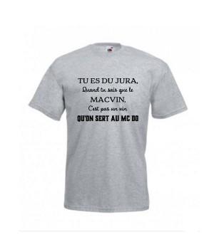 T-shirt humoristique tu es du Jura