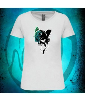 Tshirt Cat Skull femme