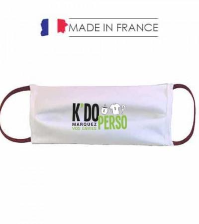 Masque barrière personnalisé AFNOR Made in France