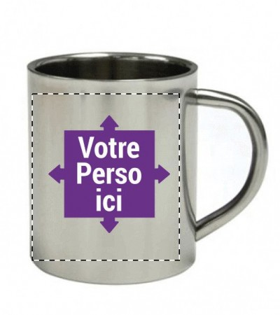 Mug, tasse métal personnalisé