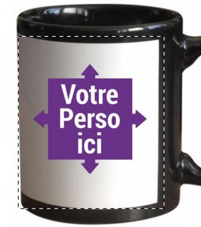 Mug, tasse noir personnalisé