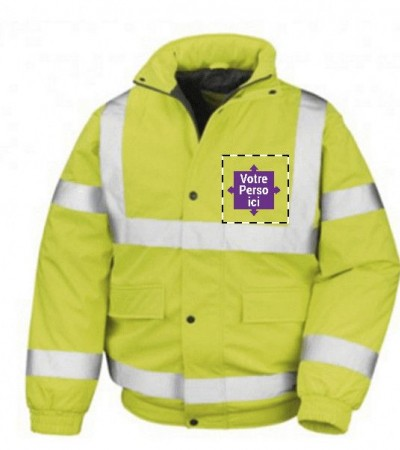 Softshell fluo homme personnalisable