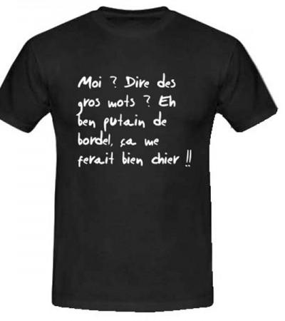 T-shirt gros mots