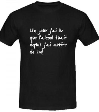 T-shirt humoristique sur l'alcool