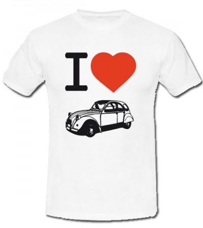 T-shirt i love 2CV