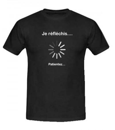 T-shirt je réfléchis, patientez...